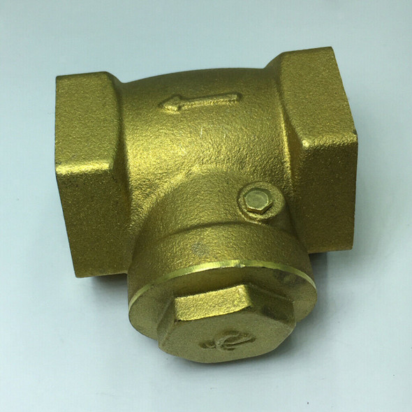 Durable Brass Spring Check Non-Return Horizontal Type Valve Size DN32 Thread