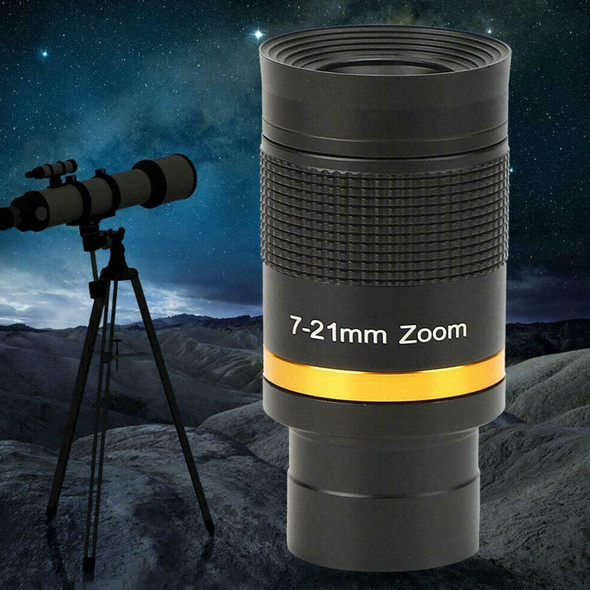 1.25 Inch Telescope Eyepiece 7‑21mm Continuous Zoom Astronomical Telescope L0Z2