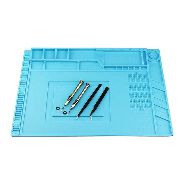 Silicone Cell Phone Repair Pad Mat Magnetic Maintenance Platform Dark Blue