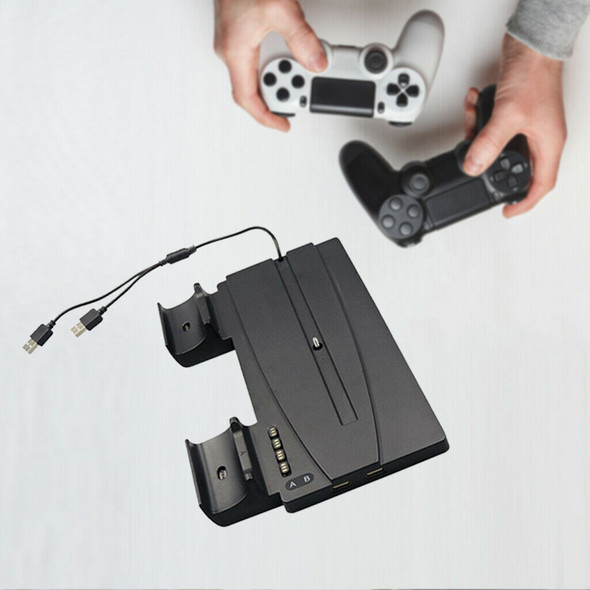 Vertical Dual Game Controller Charger Power Charging Dock for Sony PS5