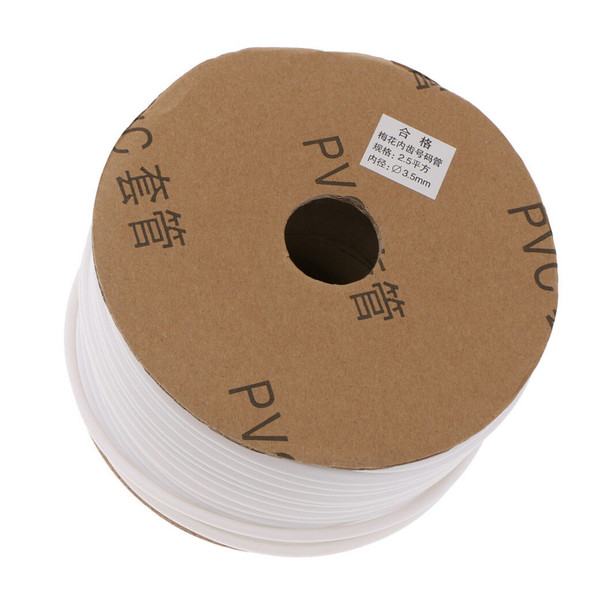 """Inner Dia.3.5mm/0.14"""" Wire Marking PVC Tube Sleeve Cable Marker 90m White"""