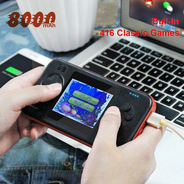 2.8 inch Handheld Gamepad Console with 8000mAh Built-in 416 Classic Games A#S