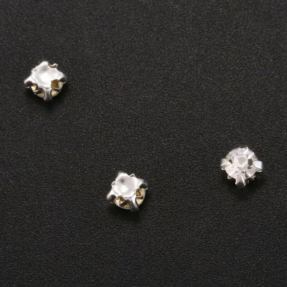 40 piece loose faceted beads rhinestones sewing on 4mm