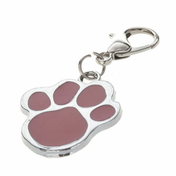 Cute Stainless Steel Foot Print Engraved Puppy Pet Dog Cat ID Name Tags