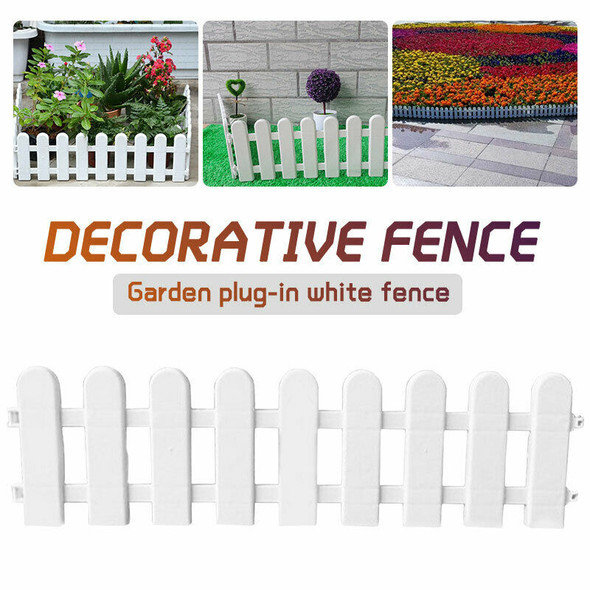 1Pc 50x13cm White Plastic Tree Fence Courtyard Indoor Garden Fence Kinderga