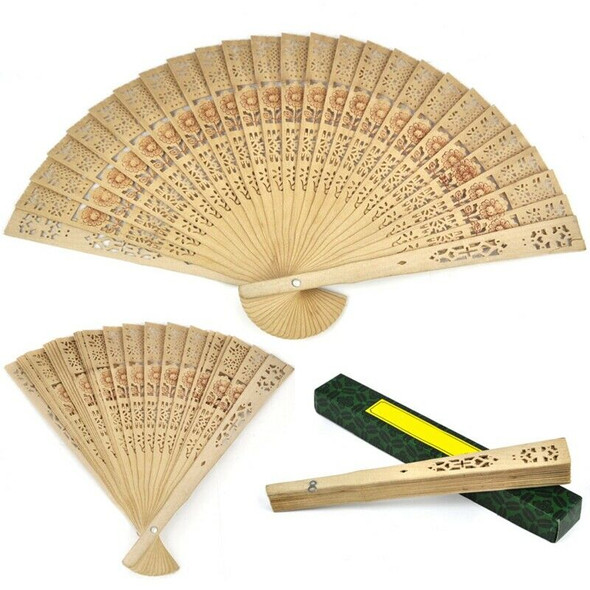 Ladies Wooden Sandalwood Hand Fan Wedding/ Birthdays Partys