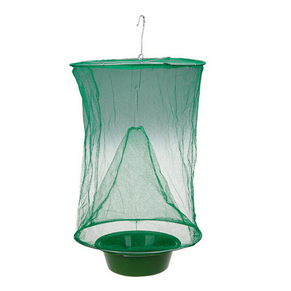Foldable ecological reusable trapper of insect catcher killer cage