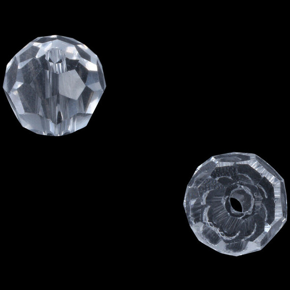 100 Clear Crystal Quartz Faceted Round Beads  6mm