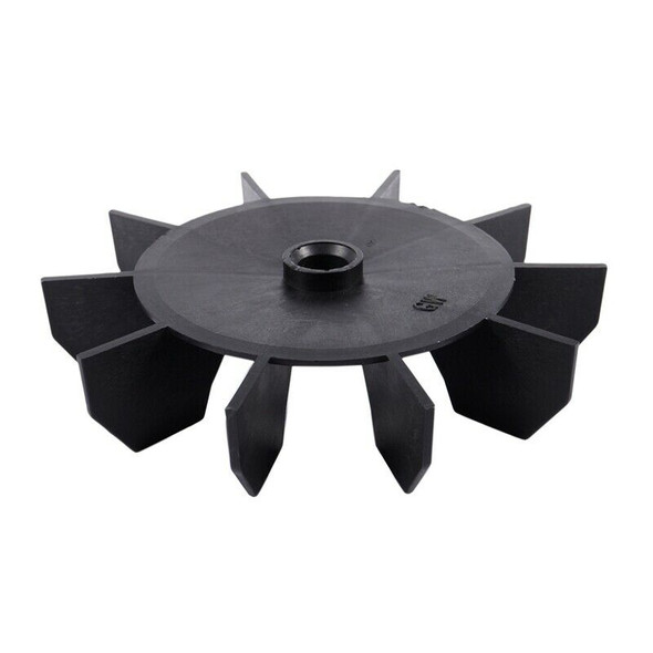 """Replacement 0.5"""" Inner Bore 10 Impeller Air Compressor Motor Fan Blade Blac"""