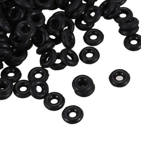 500 Black Rubber Stopper Rings/ Silicone Beads Fit European Clip Beads