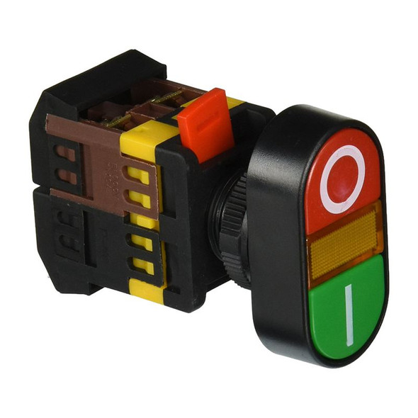 AC 600V 10A ON OFF ON AND OFF Momentary Push Button Switch with 220V Neon L