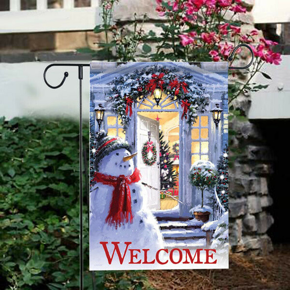 Happy Christmas Double-Sided Printing Garden Flag 7#