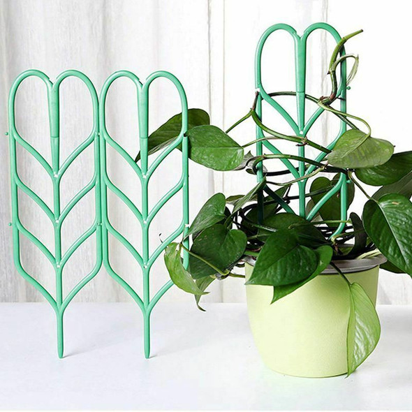 3pcs Mini DIY Leaf Shape Garden Trellis Plants Lattice Pots Supports for Cl