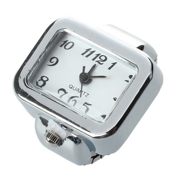 Quartz Watch Ring watch Digit Dial Arabic Rectangle White Unisex Jewelry