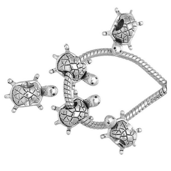 20 PCs Turtle Charms Beads Fit European Charm Bracelet
