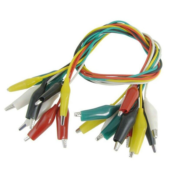 10 Pcs Colorful Insulated Alligator Clip Test Lead Cable 45cm 1.5 Ft