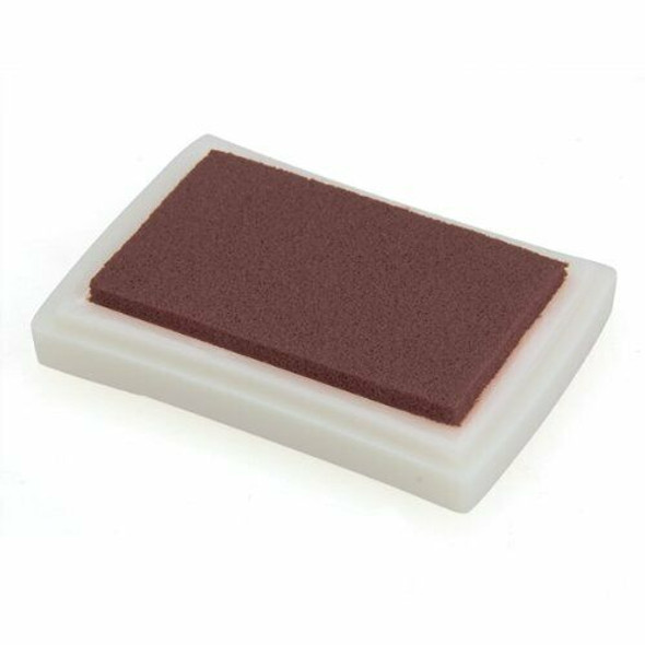 Brown Ink Pad Inkpad Rubber Stamp Finger Print Craft Non-Toxic Baby Safe