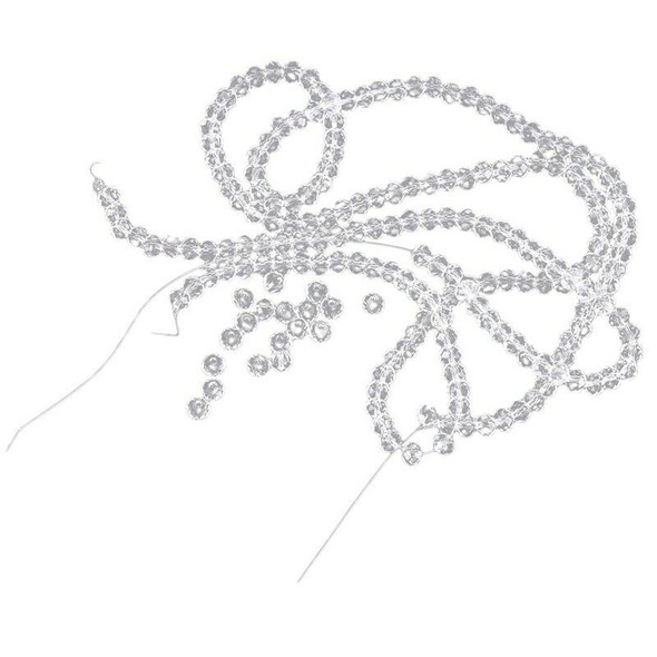 200 Clear Crystal Quartz Faceted Rondelle Beads 4mm