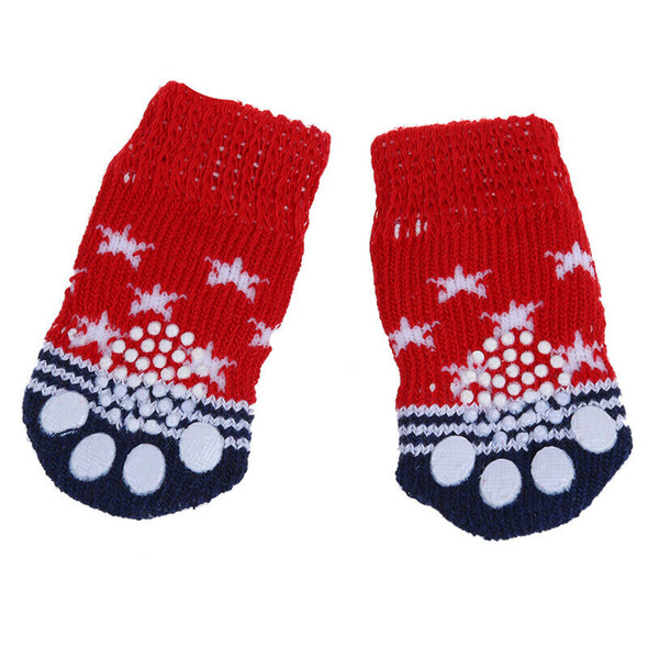 Paw Print Pet Dog Socks w/ Non-slip Bottom - Approx. 2.7 Inch Long x 1.5 In