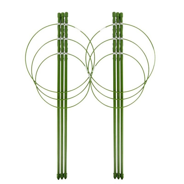 2 Pack Plant Support Cage Metal Rust Resistant Garden Plant Support Ring Pl