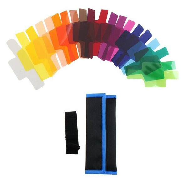 20 Color Photographic Gels Lighting Filter for / Nikon/ Oloong/ Yongnuo FLa