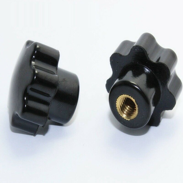 1X(3Pcs M6 Hand Adjusting Nut /Bakelite Star Type Plastic Head Handle Nuts