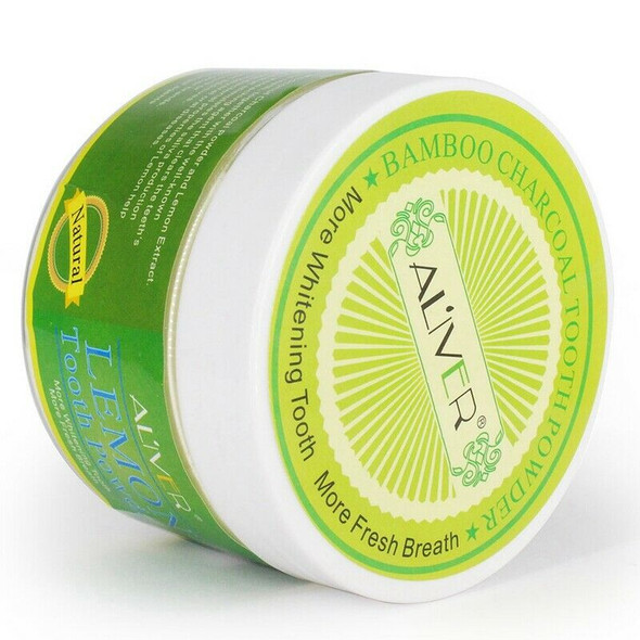Aliver Lemon Extract Teeth Whitening Tooth Powder Peppermint Tooth Whitenin