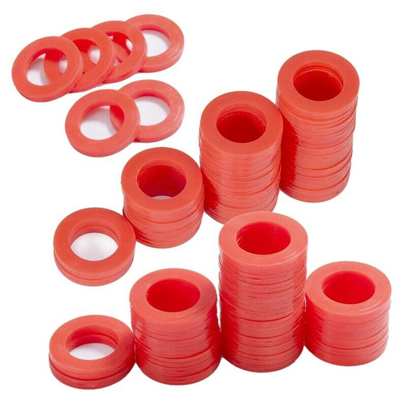 Outdoor Garden Hose Silicone Washer Gasket, 90Pcs Red O-Rings Silicone Wash