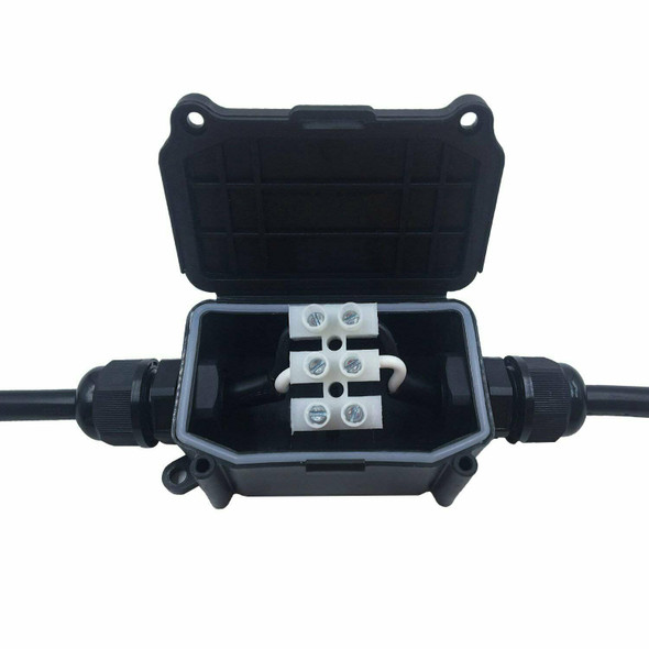 IP66 Waterproof Outdoor 2 Cable PG9 Black Plastic Connector Gland Electrica