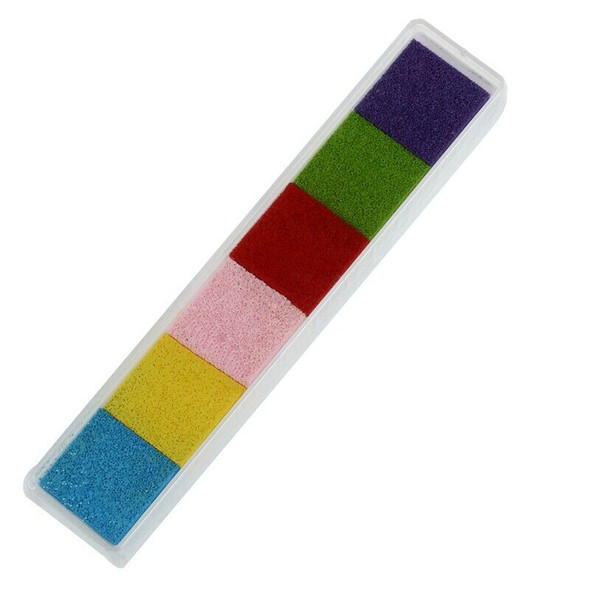 Light 6 Color Ink Pad Inkpad Rubber Stamp Finger Print Craft Non-Toxic Baby