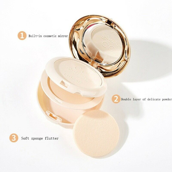 Lideal Double Layer Soft Translucent Compact Pressed Powder Face Contour Pa