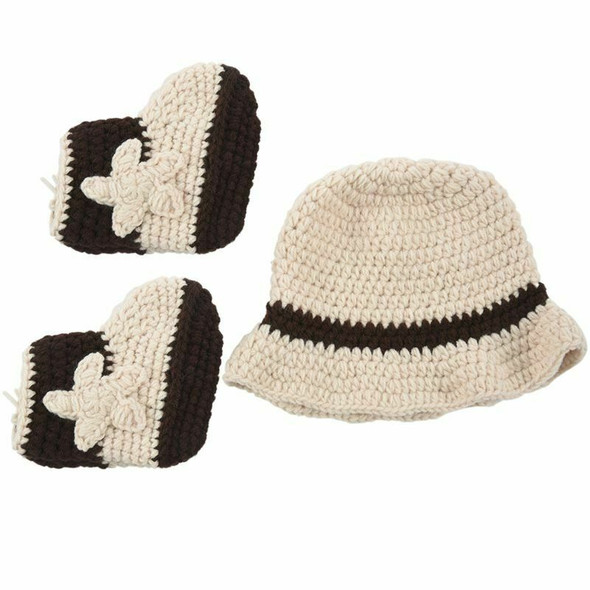 Cute Crochet newborn photography Props Handmade Western Cowboy baby Hat And