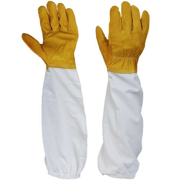 1 Pair of Gloves Sleeves Protection Ventilated Long Professional Anti Bee f