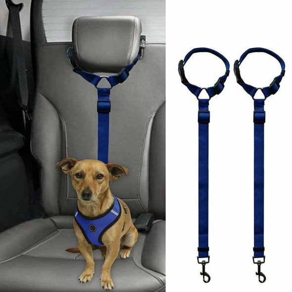 2 Packs Dog Cat Safety Seat Belt Strap Car Headrest Restraint Adjustable Ny