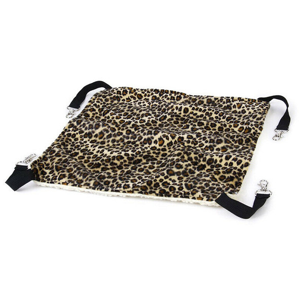 Hammock Bed Swing Cage Mat for Cat (S 35cm * 35cm, Leopard)