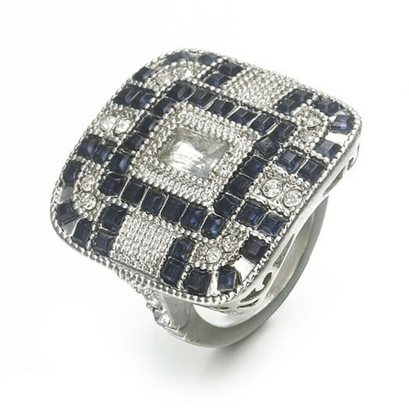 Luxury Square Cut Shining Ring With Large Stones Ring For Women Fashion Jew