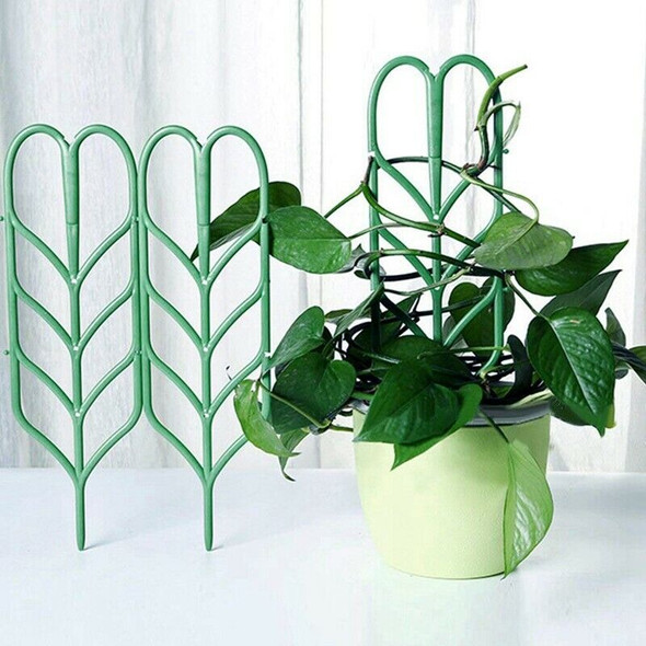 Garden Trellis For Climbing Plants, Leaf Shape Potted Plant Support Vines V