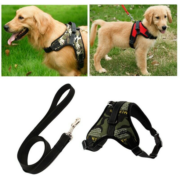 Dog Harness Leash Set Adjustable Breathable Dog Cat Collar Vest Harness for