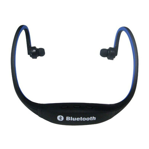 Sports Wireless Bluetooth Headset Headphone for Cell Phone PC Blue
