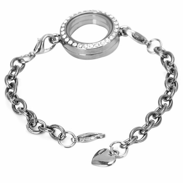 HOT Magnetic Living Memory Locket Bracelet Chain Fit Floating Charms, Gun b