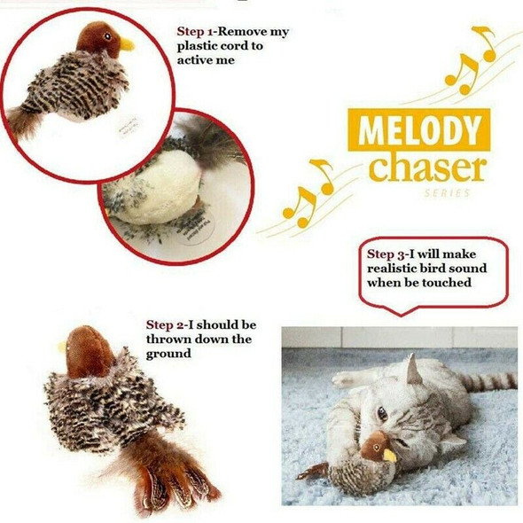 Interactive Cat Toys Animal Sound Interactive Squeaking Cat Toys Melody Cha