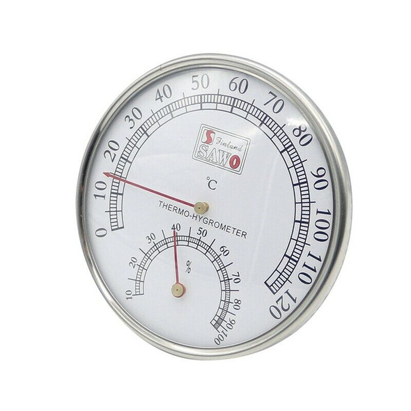 Sauna Thermometer Metal Case Steam Sauna Room Thermometer Hygrometer Bath A