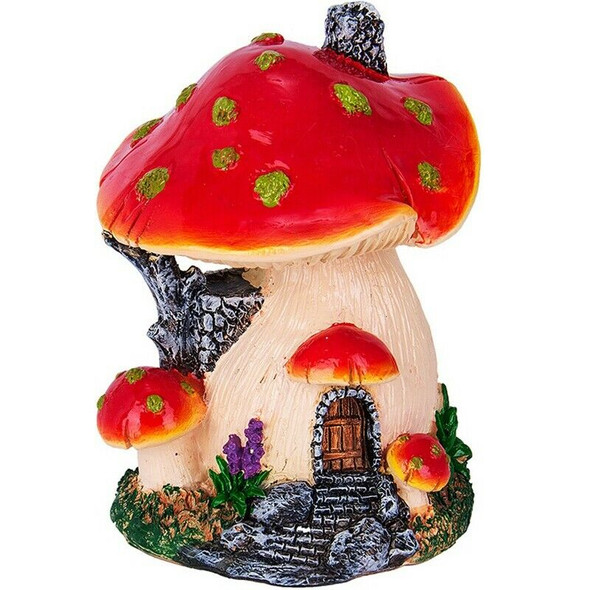 Ankoow Red Mushroom House Mini Landscape House Fairy Garden Decoration Resi