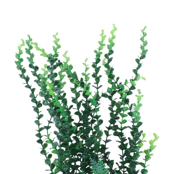 40cm Aquarium aquascaping Green artificial plant with ceramic base