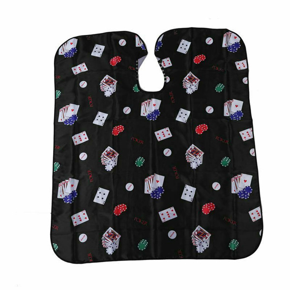 Pro Salon Barber Hair Cut Hairdressing Coloring Poker Pattern Gown Cloth Ca
