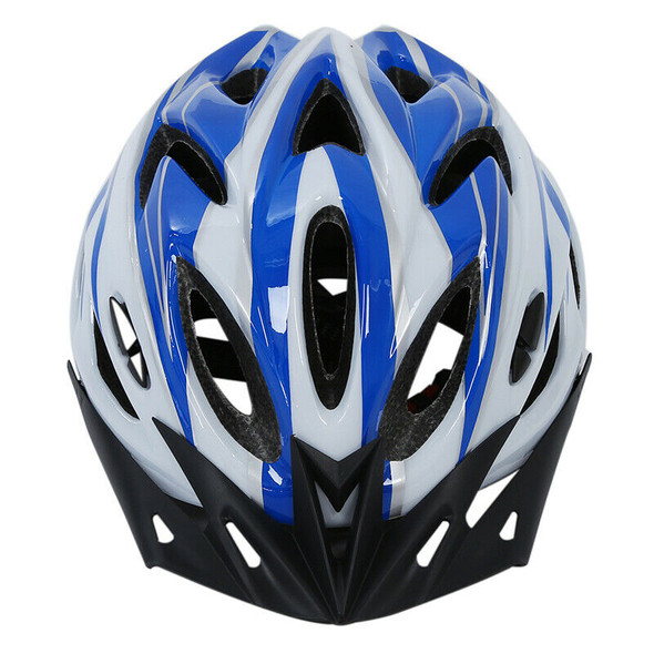 Helmet Protection Blue White L For Unisex Cycling Mountain Bike With Visor
