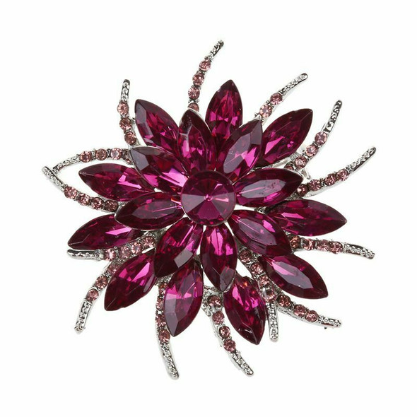 Crystal Brooch Pins For Women Top Quality Flower Broches Jewelry Fashion We