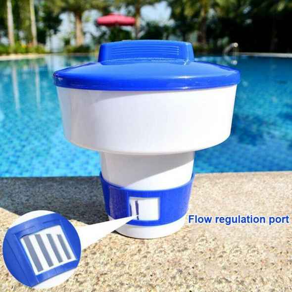 1X(Swimming Pool Floating Pills Disinfecting Automatic Dispenser Floating M