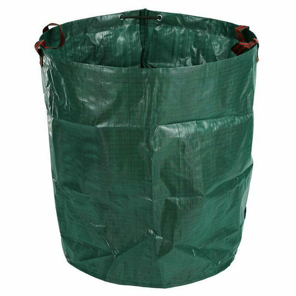 270L Garden Waste Bag Large Strong Waterproof Heavy Duty Reusable Foldable
