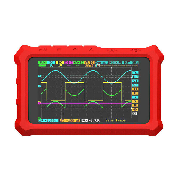 Rubber Protective Case For Ds213 Dso213 Ds203 Dso230 Oscilloscope(Red)
